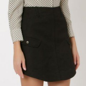 Coach Skirts - Coach Black Denim Round Hem Mini Skirt
